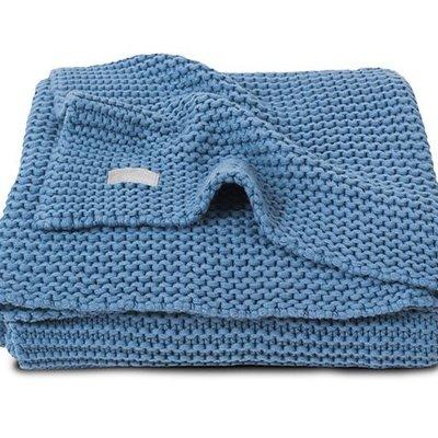 Jollein Deken heavy knit blue