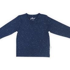 Jollein Jollein; Shirt speckle blue lange mouw