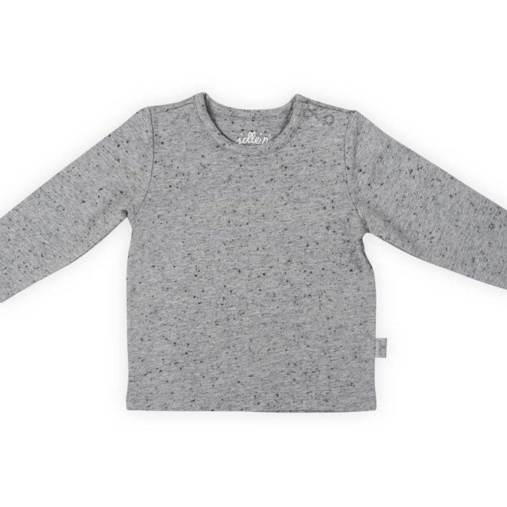 Jollein Jollein; Shirt speckle grey lange mouw