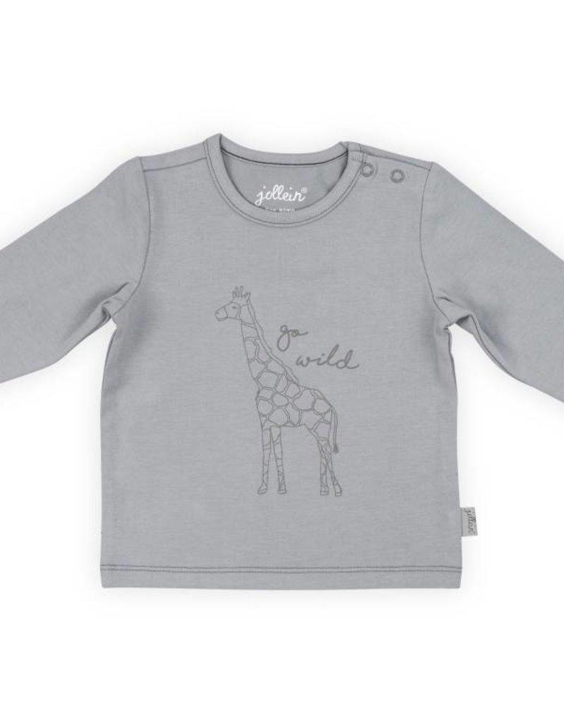 Jollein Shirt safari grey lange mouw
