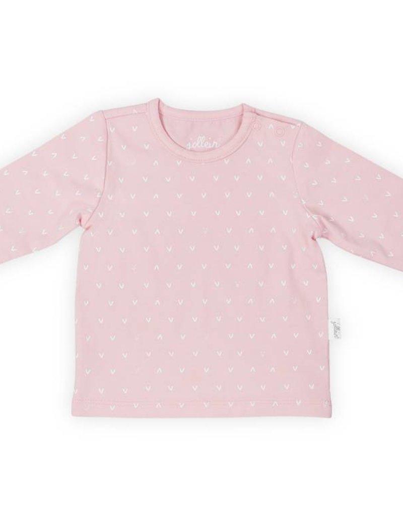 Jollein Shirt lange mouw hearts soft pink