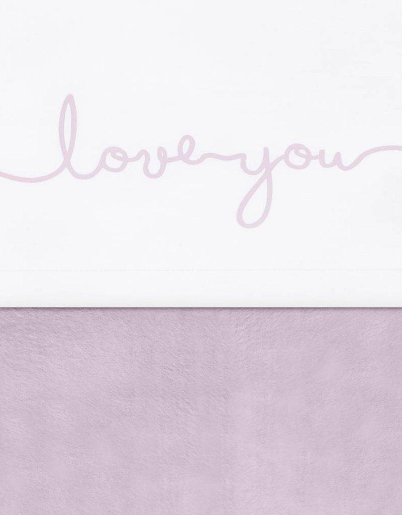 Jollein Laken 75 x 100 cm Love vintage pink
