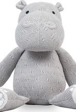Jollein Knuffel Soft knit hippo light grey