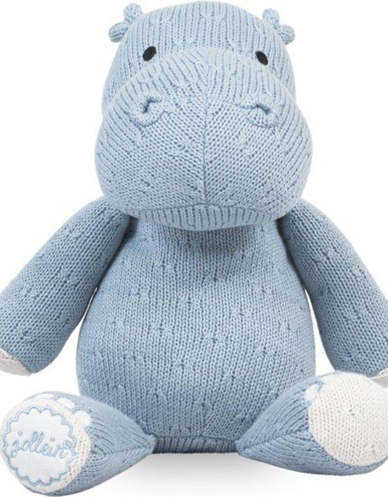 Jollein Knuffel Soft knit hippo soft blue