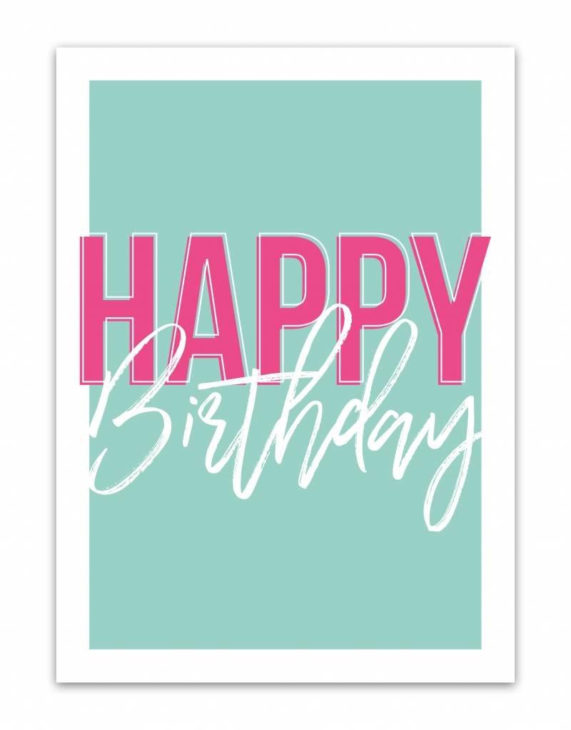 Let's Celebrate Kaart: Happy Birthday