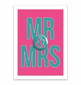 Let's Celebrate Kaart: MR & MRS