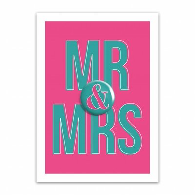 Let's Celebrate Kaart: MR & MRS