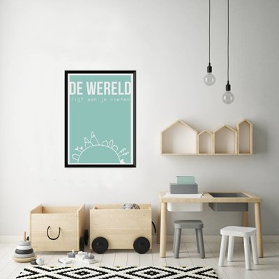 Let's Celebrate Zeefdruk Poster: De wereld ligt aan je voetjes