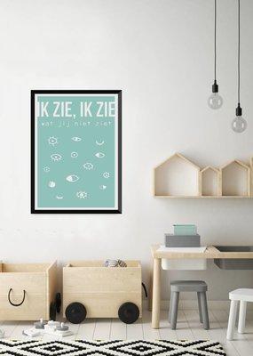 Let's Celebrate Zeefdruk Poster: Ik zie, ik zie wat jij niet ziet