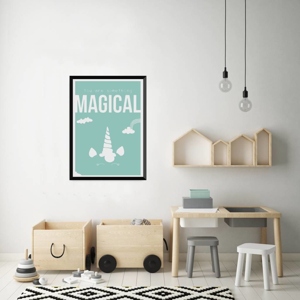 Let's Celebrate Zeefdruk Poster: Unicorn