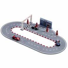 Kids Concept Blauwe Racebaan + voertuigen