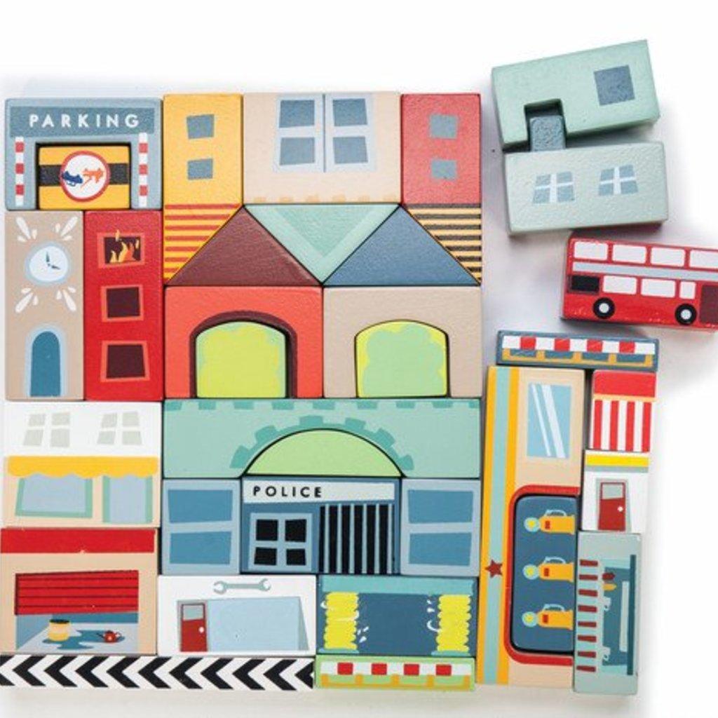 Le toy van Stads blokken hout