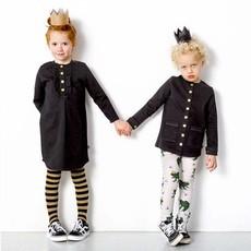 CarlijnQ Carlijn Q; Black denim tuniek jurkje
