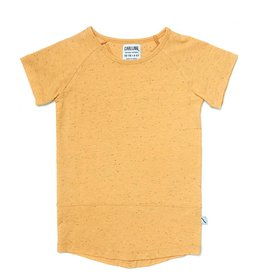 CarlijnQ Basic yellow - t-shirt short sleeve