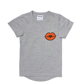 CarlijnQ Kiss goodbye - t-shirt short sleeve drop back melange