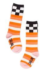 CarlijnQ Knee socks - chekcs / pink