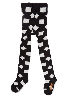 CarlijnQ Tights - checkers black / off-white