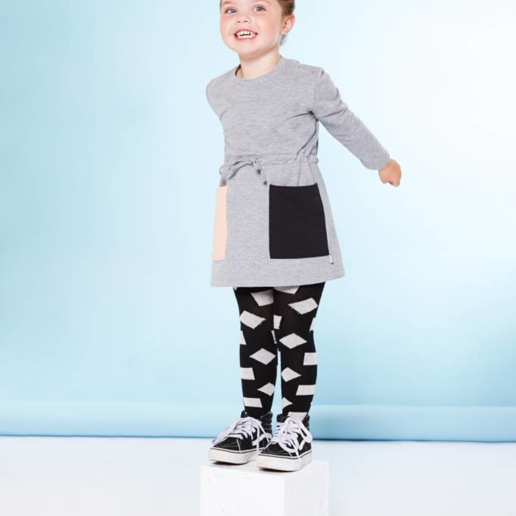 CarlijnQ Tights - checkers black / off-white