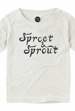 Sproet & Sprout T-shirt branded S19 67% Lycell & 33% White