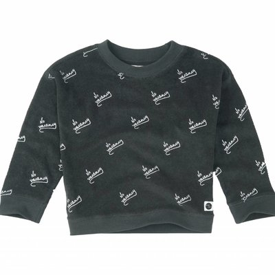 Sproet & Sprout Boxy Sweater 'No Vacancy AOP' S19 100% Cotton