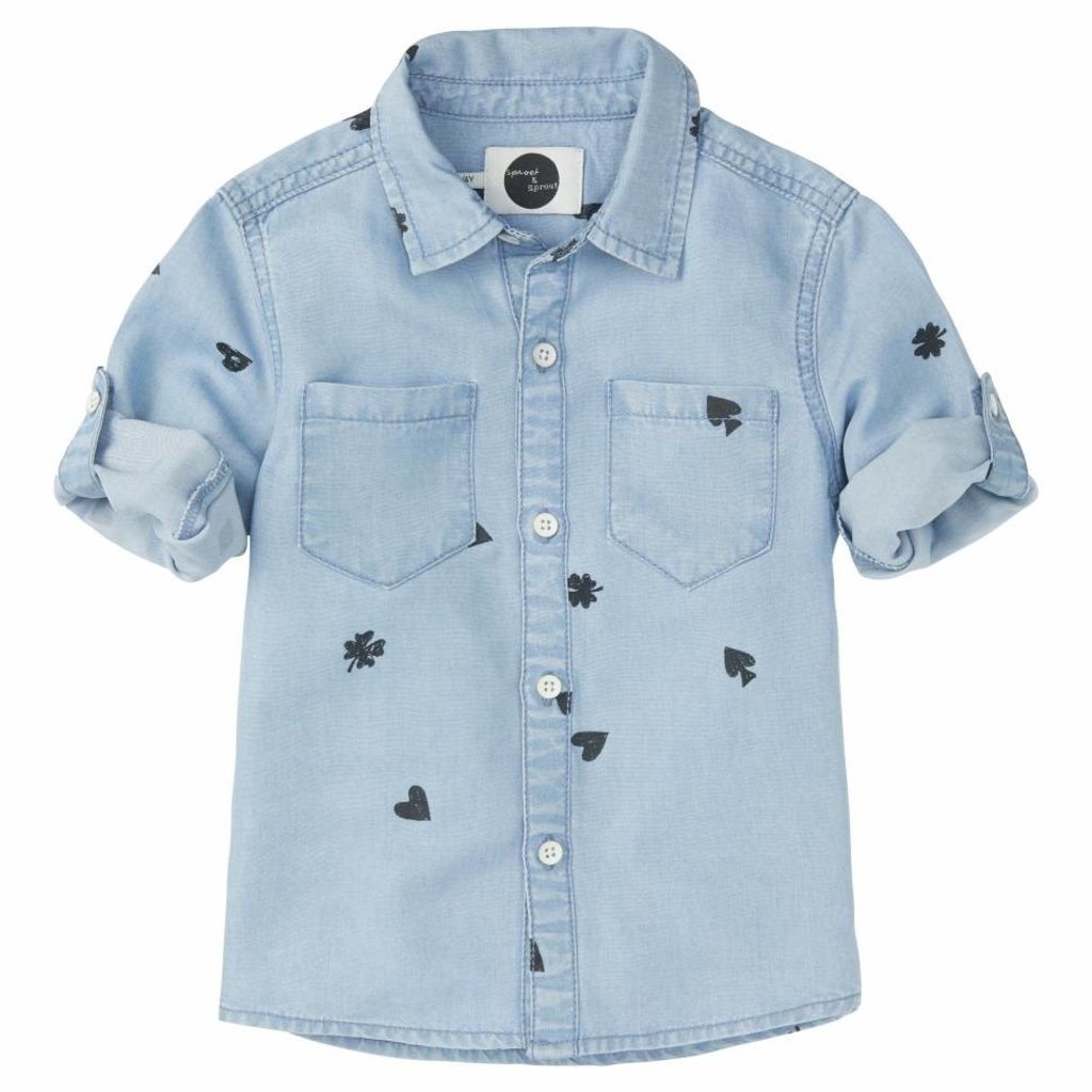 Sproet & Sprout Shirt 'Playing Cards AOP S19 100% Cotton