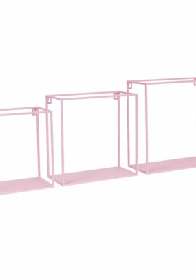 Kidsdepot Kids depot Wall box pink set 3