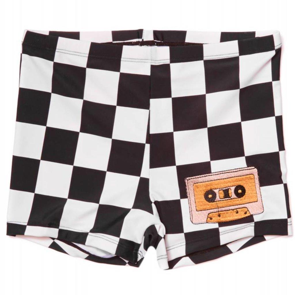 CarlijnQ checkers swim shorts