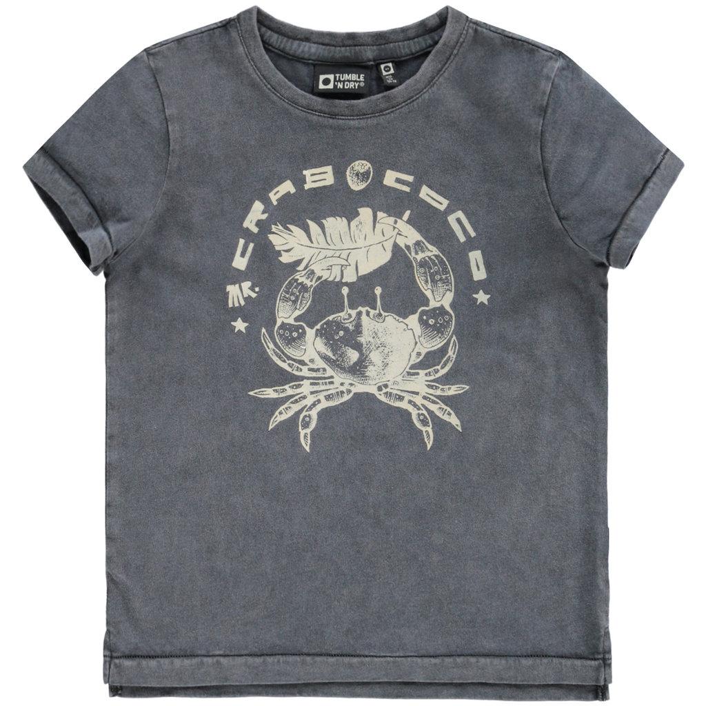 Tumble 'n Dry Tumble 'n Dry;  t-shirt grijs Dentroy Grey Asphalt