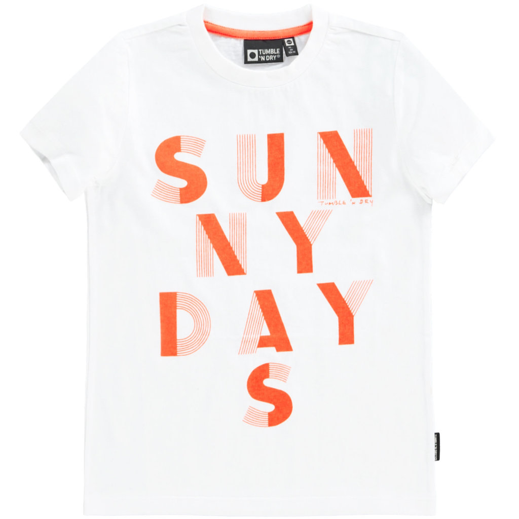 Tumble 'n Dry Tumble 'n Dry;  t-shirt wit Paper White Dille