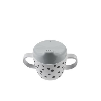 Done by Deer Spout cup, Happy dots, grey