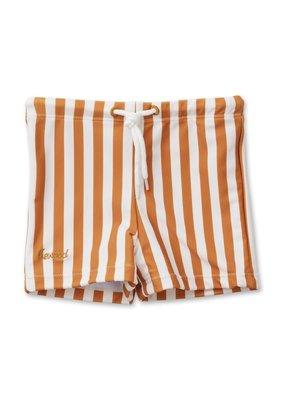 Liewood Otto – Swim pants, stripe mustard/creme de la creme