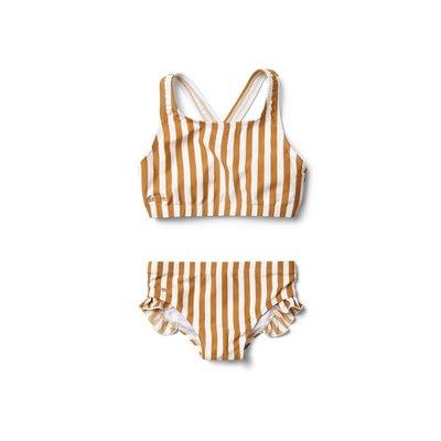 Liewood Liewood; Juliet – Bikini, stripe mustard/creme de la creme