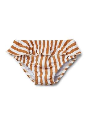 Liewood Elise – Baby girl swim pants, stripe mustard/creme de la creme