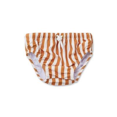Liewood Frej – Baby boy swim pants, stripe mustard/creme de la creme