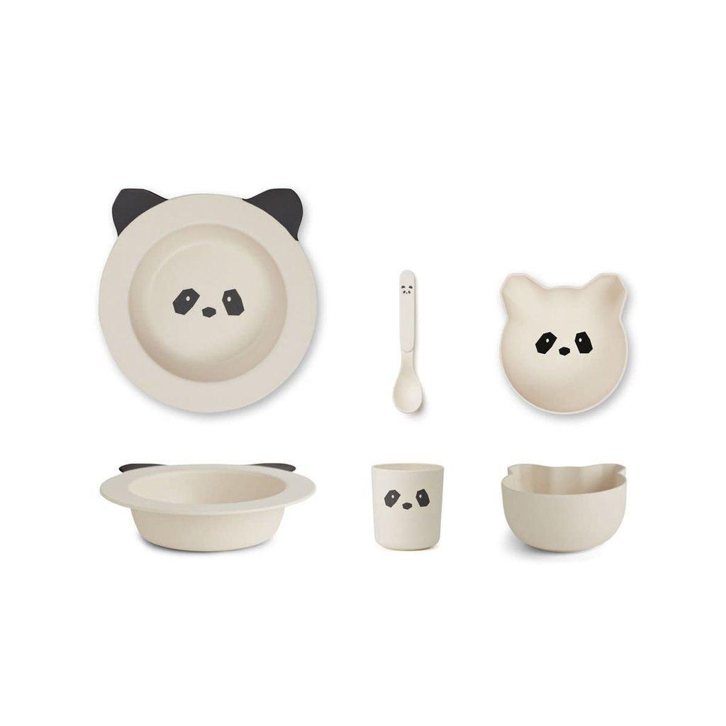 Liewood Barbara – Bamboo baby set, panda creme de la creme