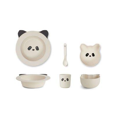 Liewood Liewood; Barbara – Bamboo baby set, panda creme de la creme
