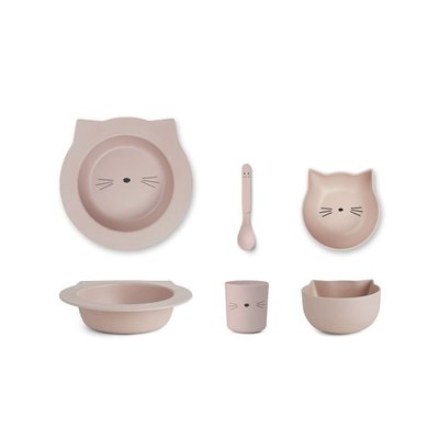 Liewood Liewood; Barbara – Bamboo baby set, cat rose