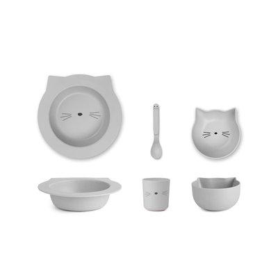 Liewood Barbara – Bamboo baby set, cat dumbo grey