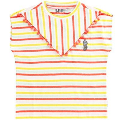 Tumble 'n Dry Tumble 'n Dry; t-shirt gestreept Hot coral Castlewood