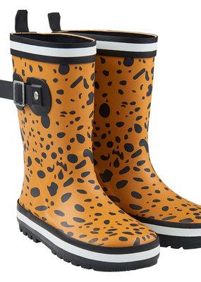 CarlijnQ CarlijnQ regenlaarzen, spotted animal, geel/zwart