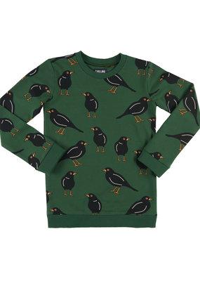 CarlijnQ CarlijnQ, trui, zwarte vogel, groen