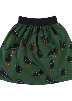 CarlijnQ CarlijnQ, lange rok, zwarte vogel, groen