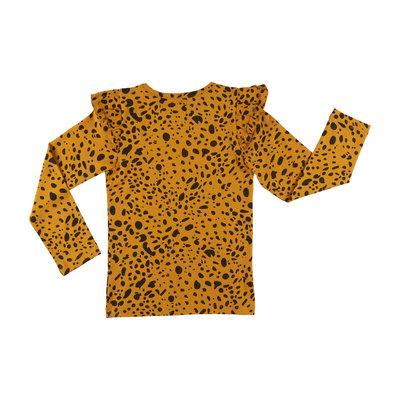 CarlijnQ CarlijnQ, longsleeve, spotted animal, geel/zwart