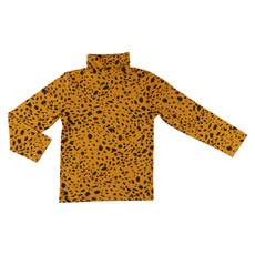 CarlijnQ CarlijnQ, longsleeve turtle neck, spotted animal, geel/zwart