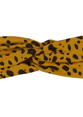 CarlijnQ CarlijnQ, gedraaide haarband, spotted animal, geel/zwart