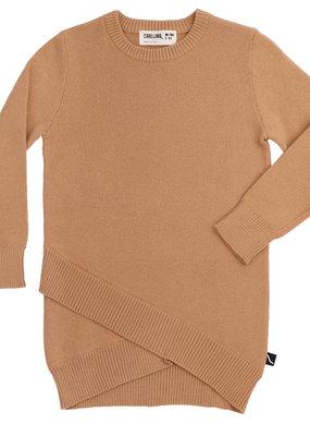 CarlijnQ CarlijnQ, jurk, knitted long sweater, bruin