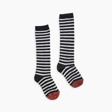 Sproet & Sprout Sproet & Sprout, hoge sokken, zwart/wit gestreept, W19-956