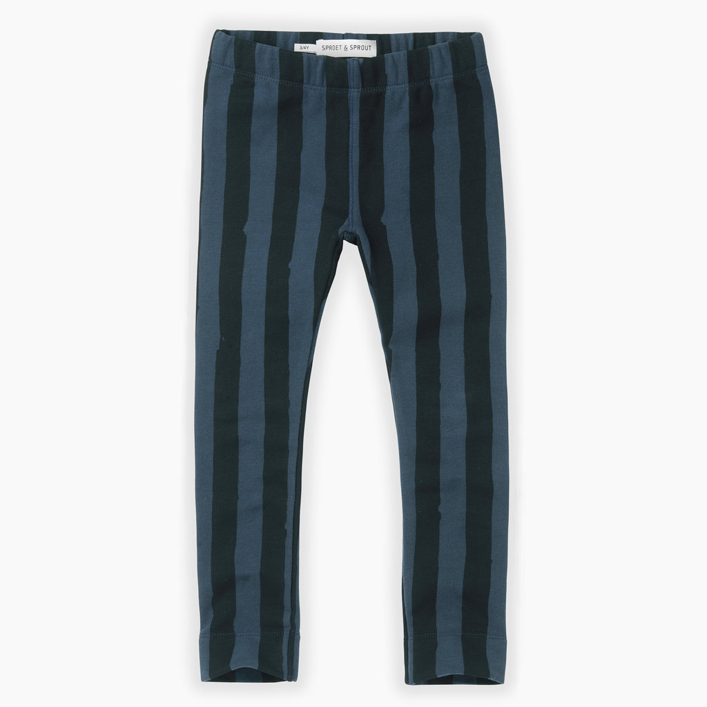 Sproet & Sprout Sproet & Sprout, legging, gestreept, groen/zwart, W19-908