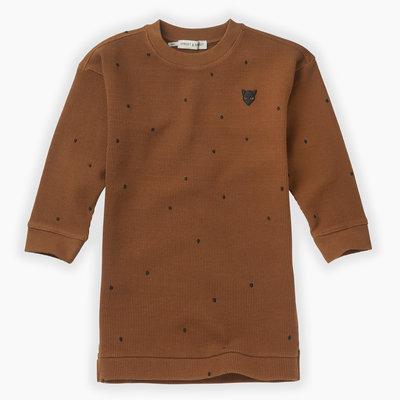 Sproet & Sprout Sproet & Sprout, jurkje, met stippen, bruin/zwart, W19-899