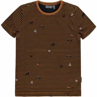 Tumble 'n Dry Tumble 'N Dry, t-shirt, valker, bruin/zwart gestreept